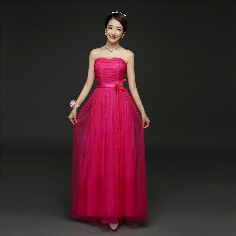 Diy Wedding Gowns: DIY Strapless Bridesmaid Dress Fashion Design Hot Pink