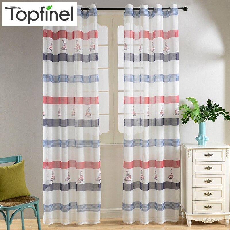 Aliexpress Com Buy 2016 Top Finel Modern Striped Faux: 2016 Top Finel Modern Striped Faux Linen Tulle Curtains