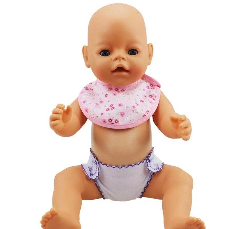 Кукла дети игрушки Куклы Аксессуары куклы baby born слюны с цветочным кукла нагрудники А ...
