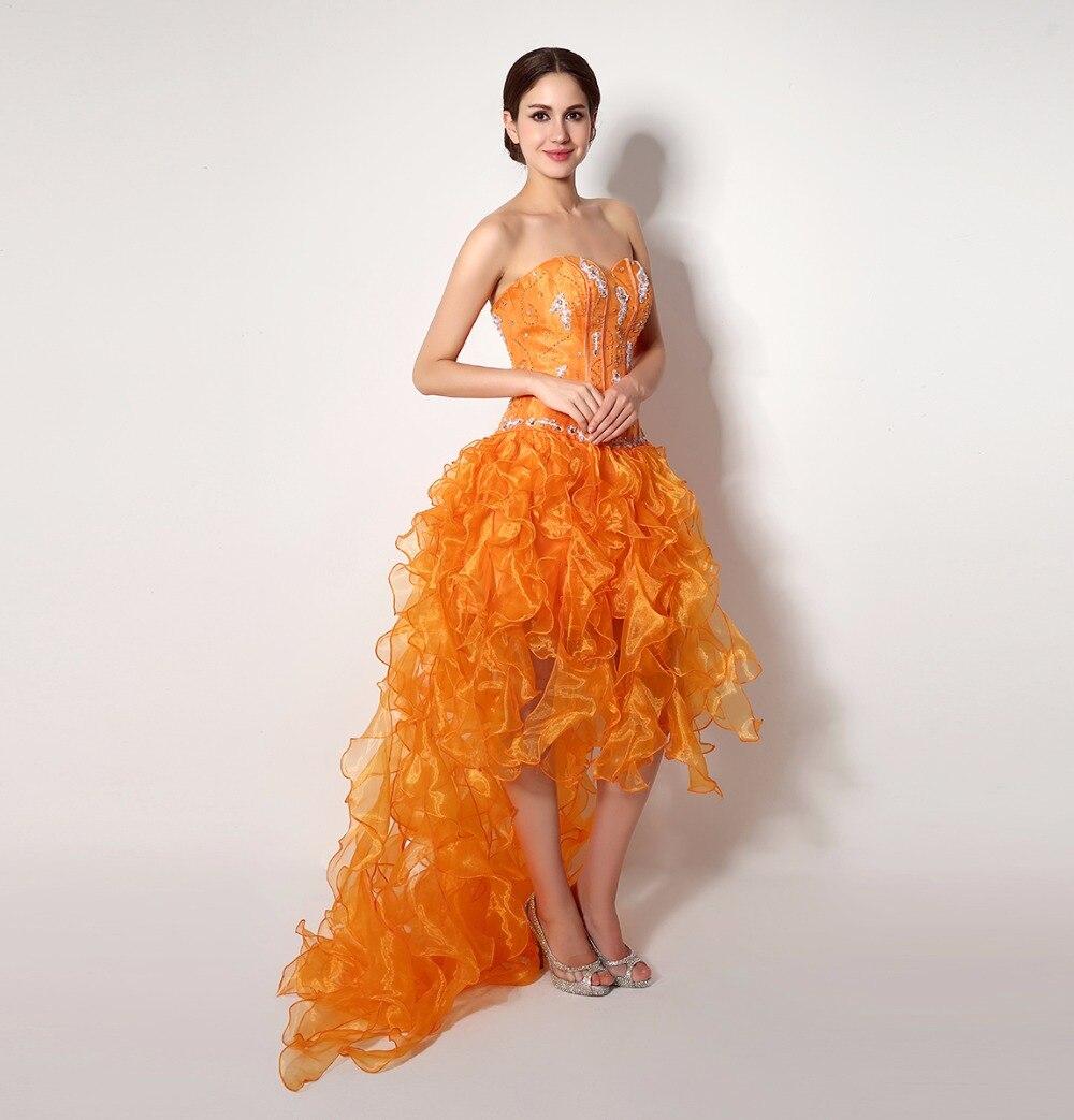 Orange cheap prom dresses