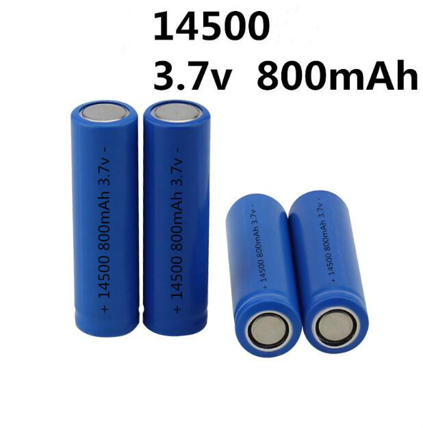 14500 battery 3.7V Li-ion 14500 800mah rechargeable battery for electric shaver toothbrush with Flat top very cheap 2pcs/lot image