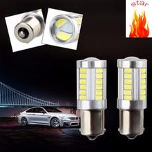 5 PCSCar Light Signal Lamp 1156 1157 BA15s P21W Led Turn Brake Tail 33SMD 5730 LED Auto Rear Reverse Bulb r5w