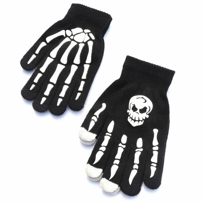 1 пара мужские череп кольцо в форме скелета Goth гоночные Нескользящие спортивный с полными пальцами перчатки ручные перчатки guantes eldiven handschoenen 40FE18