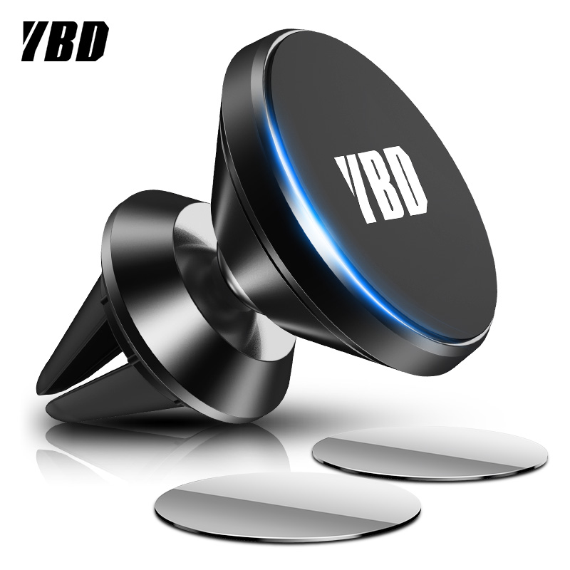 YBD Luxury Mount Magnetic Phone Holder For IPhone Samsung S11 Xiaomi Huawei Redmi Note 8T Air Vent Car Phone Holder Support GPS