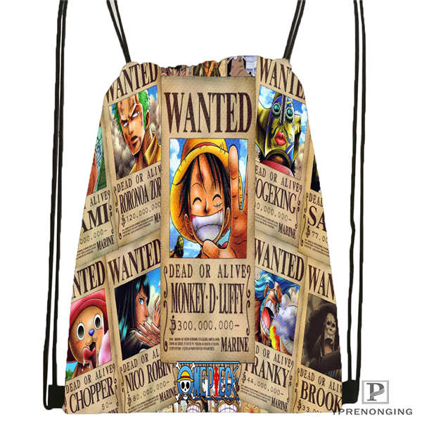 Custom One Piece  Drawstring Backpack Bag Cute Daypack Kids Satchel (Black Back) 31x40cm#20180611-02-86