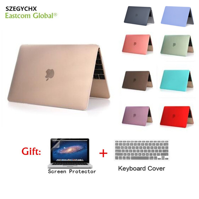 Hard Shell Matte Laptop Case For MacBook Air 11 Retina 12 Cover 2018 New Pro 13 15 with Touch Bar A1706 A1707 A1989 A1990 A1932(China)