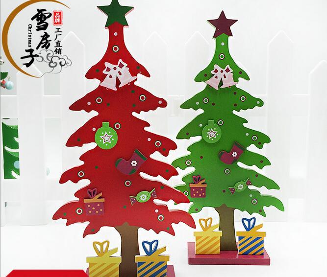 regalos de navidad unidspack mini mesa de rboles de navidad decoracin de madera