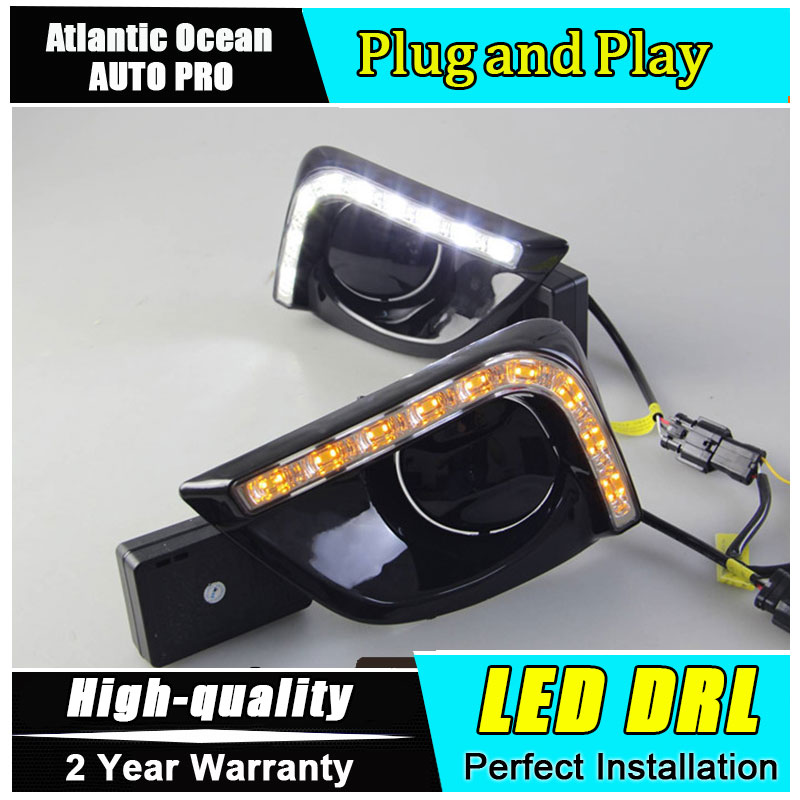 car styling For Toyota Vios LED DRL For Vios led fog lamps daytime running light High brightness guide LED DRL For LED Lamp bead auto clud car styling for toyota highlander led drl for highlander high brightness guide led drl led fog lamps daytime running l