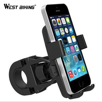 WEST BIKING Smart Phone Anti-theft Bicycle Bike Phone Holder Handlebar Mount Bracket for IPhone Samsung HTC Sony Cellphone GPS