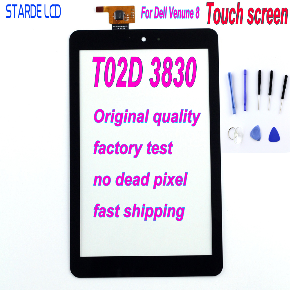 STARDE Replacement Touch For Dell Venue 8 T02D 3830 Touch Screen Digitizer Sense Replacement Part With  Free Tools