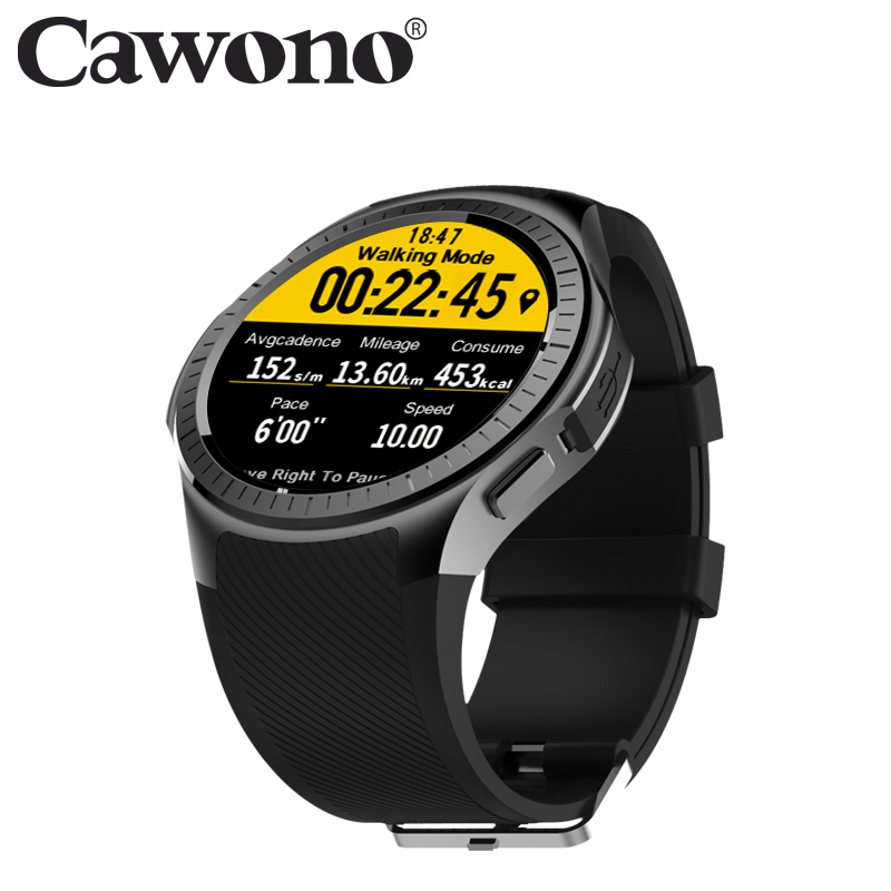 Cawono CN2 1.3 inch Bluetooth Smartwatch GPS Heart Rate Monitor Pedometer Sport Smart Watch Fitness Tracker for Android IOS lemfo dm360 smart watch wearable devices bluetooth smartwatch heart rate monitor pedometer fitness tracker for ios android hot