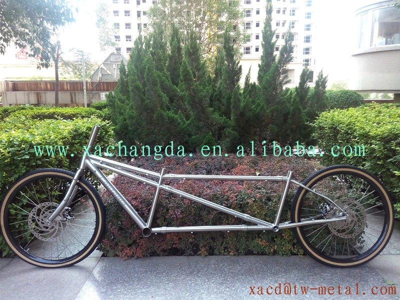 Bike-Frame Tandem Titanium MTB with S Coupler-Made Chinese Chinese