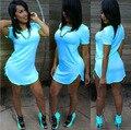2016 Сексуальная Мини-Клуб Bodycon Платья Партии Женщин Плюс размер Лето бинты Пляж Нерегулярные Асимметричный Dress Vestidos де феста