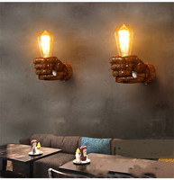 Loft Style Nordic Resin Metal Wall Sconce Art Decor left hand right hand bedside Wall Light For Home Wall Lamp Indoor Lighting