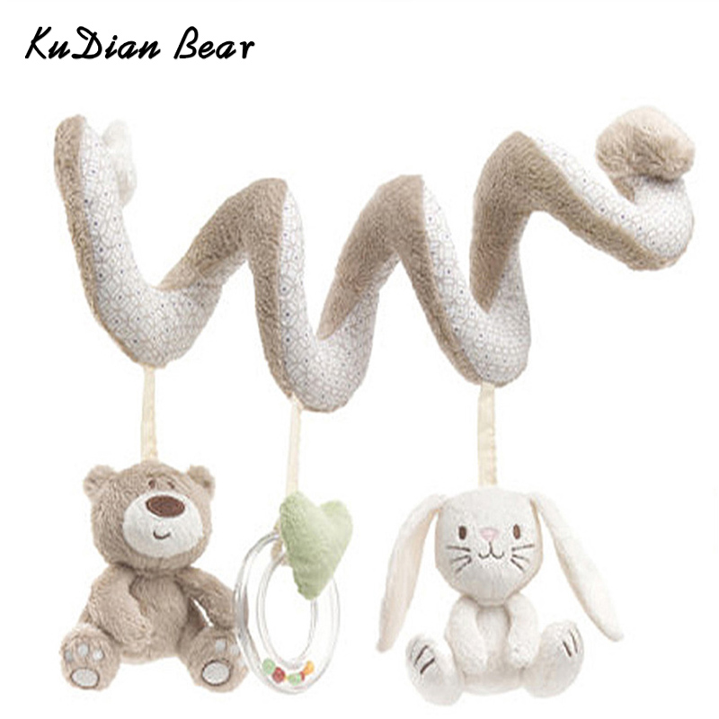 Baby Toys Mobile Educational Musical Toy Newborn Plush Rattles Playing On The Crib Hanging Bell Toys For Children - BYC148 PT49 kudian bear baby toys baby mobile crib rabbit musical box with holder arm music newborn rotating bed bell plush toy byc078 pt49
