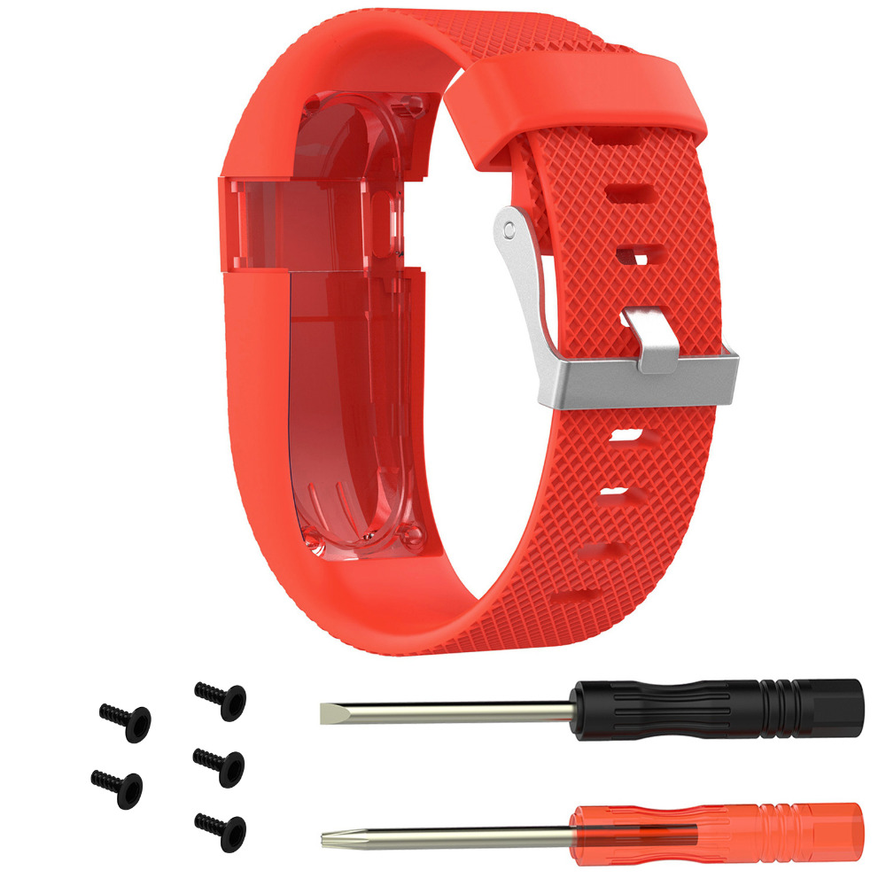 Replacement Silicone Wrist Band Strap for Fitbit Charge HR Wireless Activity Tracker Smart Watch Wristband Bracelet Strap in Smart Accessories from Consumer Electronics