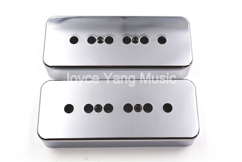1 Set of 2pcs Niko Chrome P90 Soapbar Pickup Cover 50/52mm For LP Style Electric Guitar Free Shipping Wholesales syh 02 lp electric guitar pickup cover white silver pair