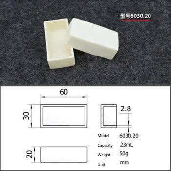 99.5% Square corundum crucible /23ml 6030.20/ Temperature 1600 degrees / Sintered ceramic crucible