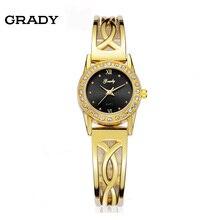 Женщины Платье часы наручные часы женщины браслет 22 К золотистые 3atm водостойкий