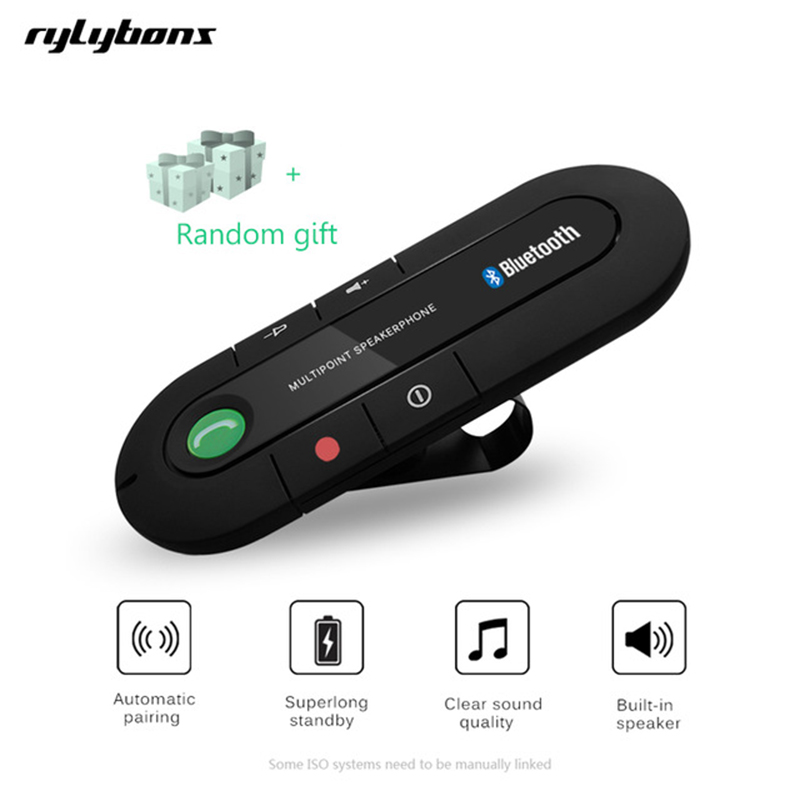 Tragbares Audio & Video Tragbare Bluetooth Car Kit Freisprecheinrichtung Sonnenblende Clip Lautsprecher Bluetooth Freisprechen Musik Player Ein-taste Power On/off Funkadapter