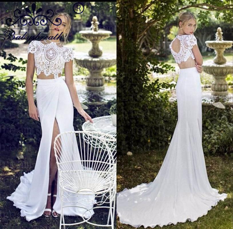 Cheap-Lace-Wedding-Dress-Vestidos-Black-Friday-Boda-2016-Front-Slit-Bodice-2-Piece-Bridal-Gowns (2)