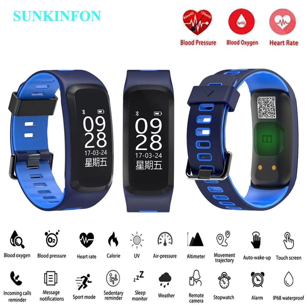 F22 Smart Watch Bracelet Blood Pressure Oxygen Heart Rate Monitor Fitness Tracker Smart Wristband for Huawei nova 2 Plus Mate S