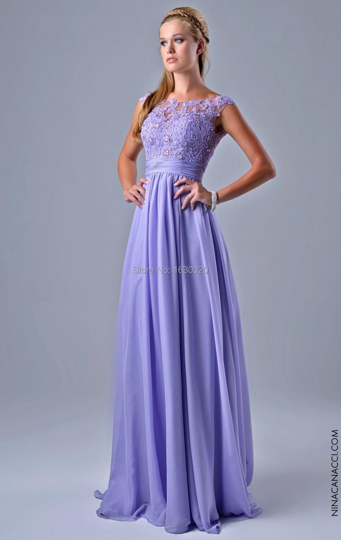 Light Purple Lace Prom Dress - Missy Dress