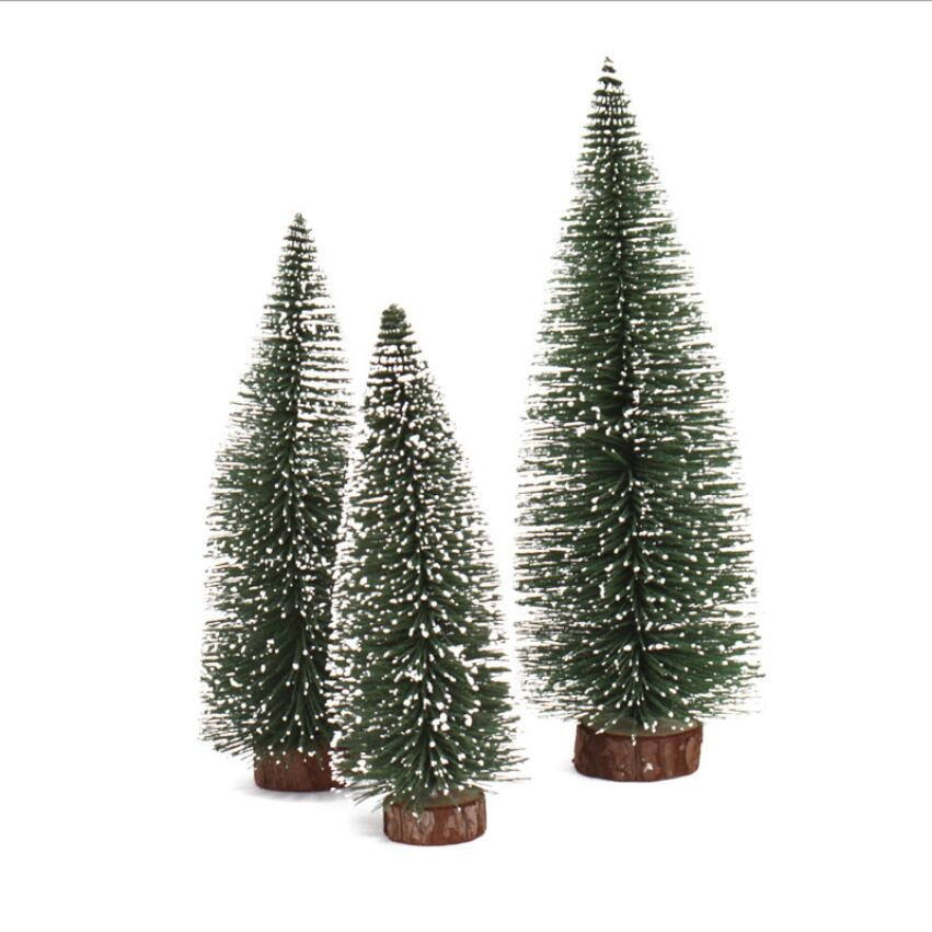 green cedar christmas tree with white snow design small size table desktop decorating christmas tree six size in trees from home garden on aliexpresscom