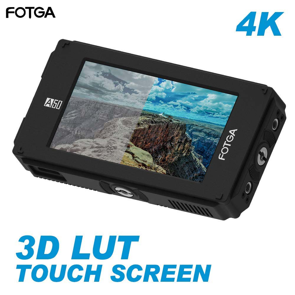 Fotga DP500IIIS A50TLS 5 FHD Video On-Camera Touch Screen Field Monitor,3D LUT, 3G SDI and HDMI 4K Input/Output for A7S II GH5