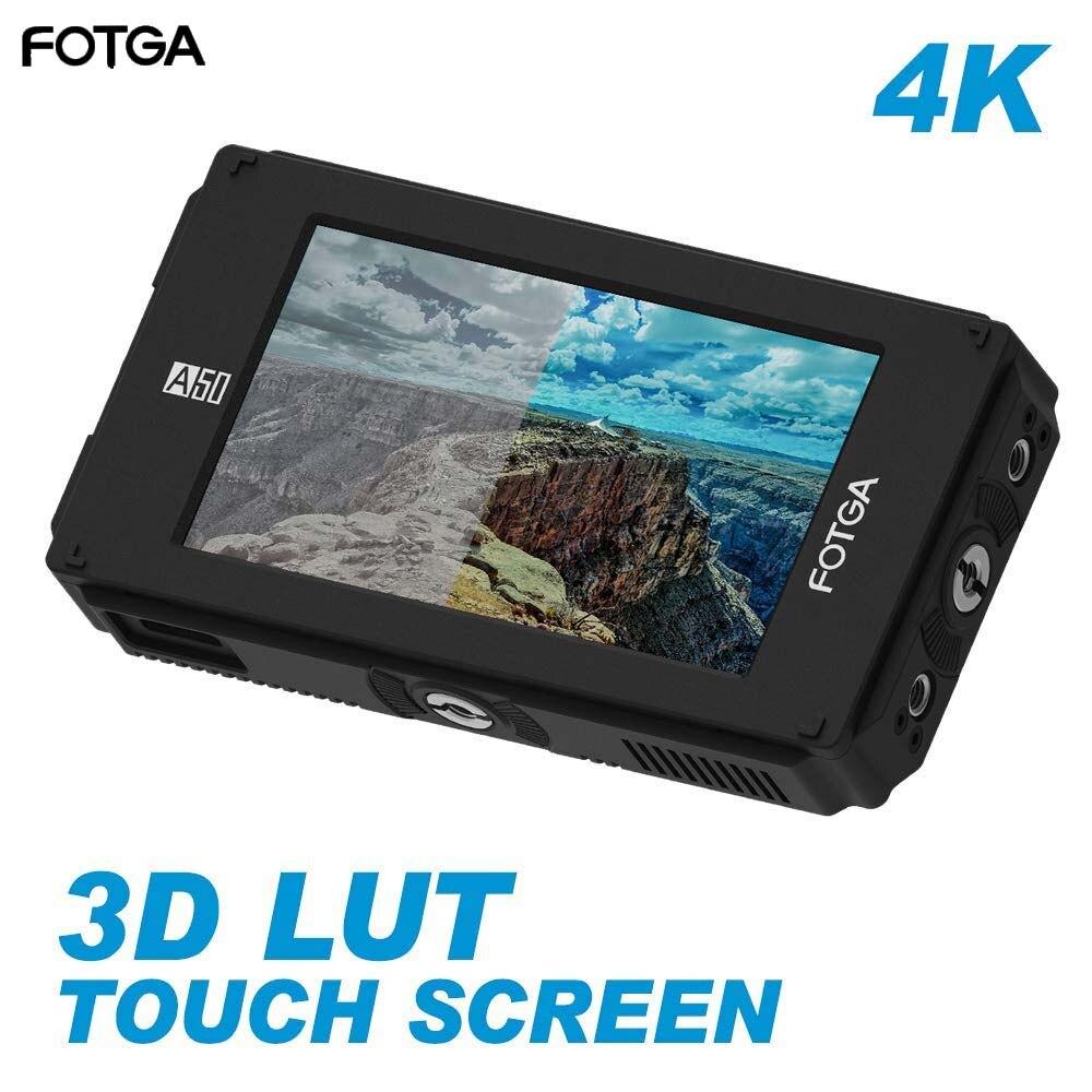 Fotga DP500IIIS A50TLS 5 FHD Video On-cámara pantalla táctil Monitor de campo, 3D LUT, entrada/Salida 3G SDI y HDMI 4K para A7S II GH5