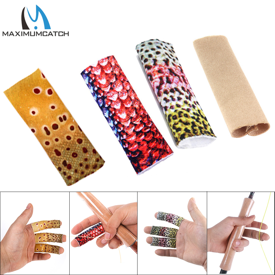 3Pcs Finger Skin Protection Sleeve Elastic Fly Fishing Line Stripping Guards