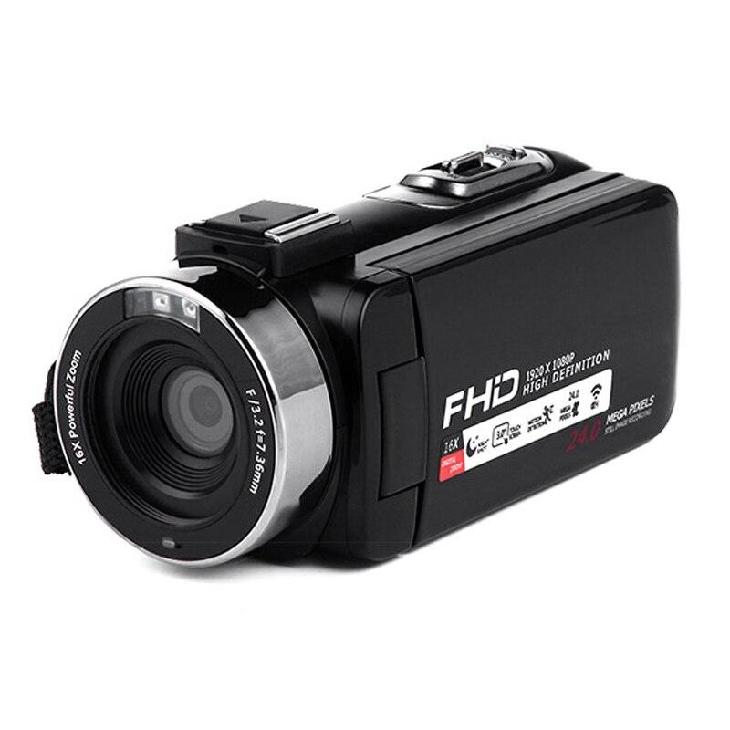 Caméra vidéo Wifi 1080P Full Hd Portable caméra vidéo numérique 16X Zoom numérique 3.0 pouces presse Lcd écran caméscope