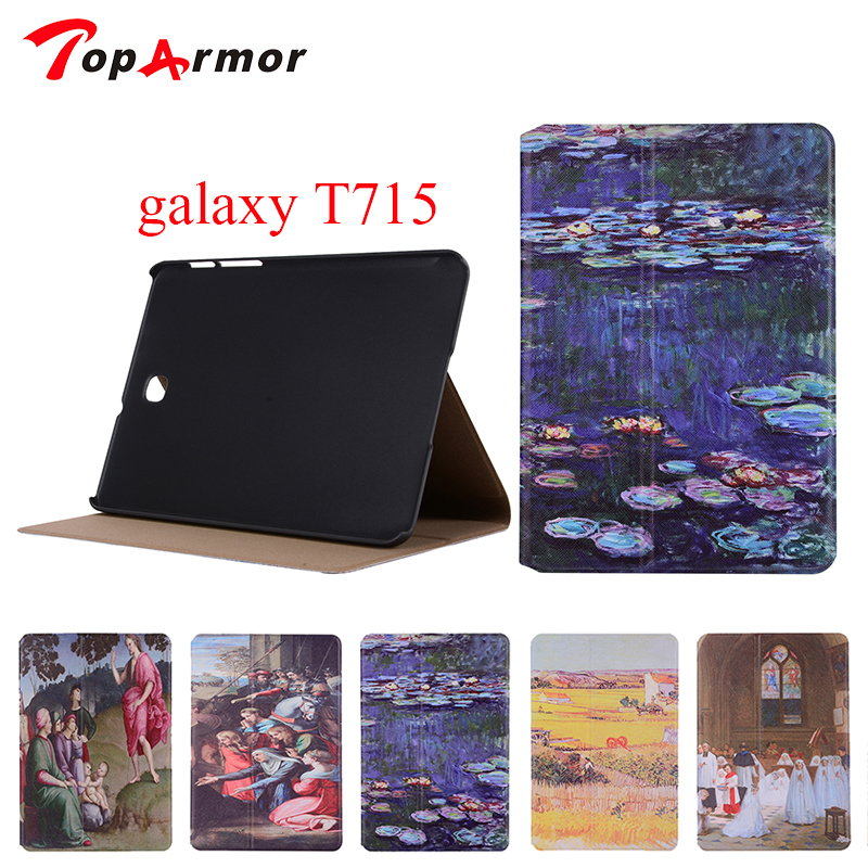 TopArmor For Samsung Galaxy Tab S2 8.0 SM-T710 T715 Wallet PU Leather Stand Case Cover For Samsung Tab S2 8.0 Tablet Cases colorful magnetic pu leather case cover for samsung galaxy tab s2 8 0 sm t710 t715 tablet stand with card holder y4d33d