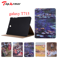 TopArmor For Samsung Galaxy Tab S2 8 0 SM T710 T715 Wallet PU Leather Stand Case