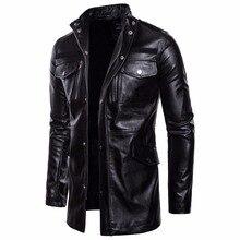 Мужчины PU кожаная куртка 2020 весна осень новая мода искусственная мотоцикл и пиджаки тренч куртка мужской тонкий Fit пальто большой size5XL
