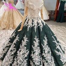 Aijingyu 출산 웨딩 드레스 빈티지 가운 새로운 신부 boho 세련 된 착용 가운 빈티지 웨딩 드레스 슬리브