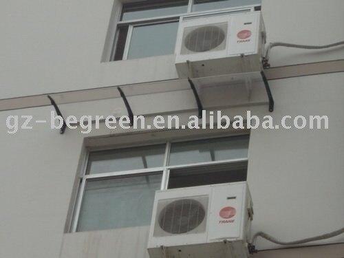 YP60240, 60X240 cm, PC janela da copa, porta dossel (EGR60240), tampa da janela, abrigo da chuva, chuva toldo, suporte de plástico