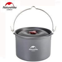 Naturehike Ultralight Outdoor Camping Cookware Utensils Hiking Picnic Tableware Pot Pan 4-6 Person Hiking Cooking Pot Pans