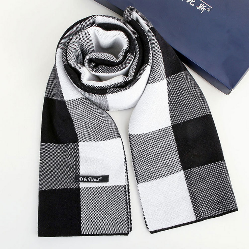 2017 new winter hot style men scarf high grade cashmere British classic grid business warm collar