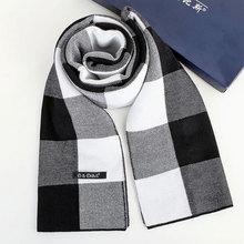 2017 new winter hot style men scarf  high-grade cashmere British classic grid business warm collar couples business gift