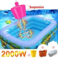 Elemento de aquecimento de água de flutuação bonde de aço inoxidável da caldeira do calefator da imersão da suspensão 2000w 220-250v portátil para o banheiro