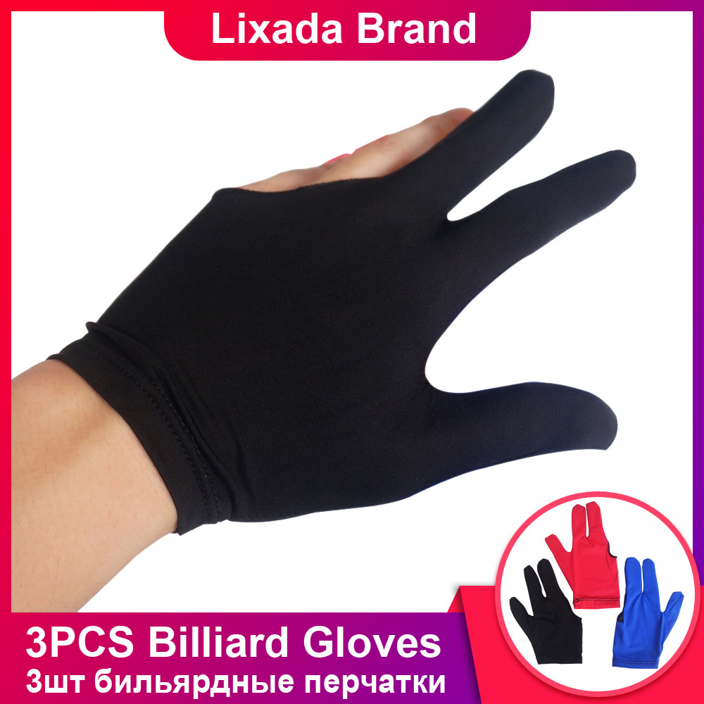 3 Fingers Billiard Glove Pool Snooker Left /& Right Hand Cue Shooters Accessory