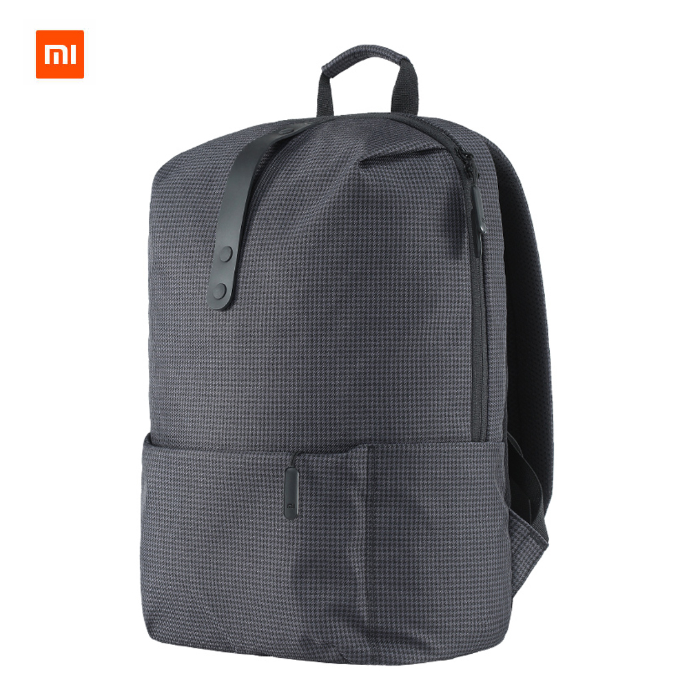 Original XiaomI Mi Backpack College Casual Shoulders Bag Female Leisure Rucksack Daypack School Bag Duffel Bag 15.6 Inch Laptop xiaomi 90fun brand leisure daypack business waterproof backpack 14 laptop commute college school travel trip grey