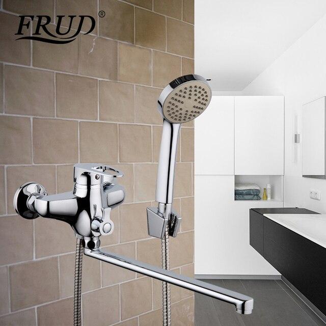 Frud 1 set Top Kwaliteit badkamer armatuur waterval toilet bad douche  kranen tap set bad regendouche kraan mengkraan R22065 in Frud 1 set Top ...