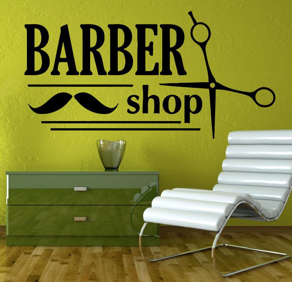 Free Shipping Diy Hair Beauty Salon Vinyl Decal Barber Shop Sign