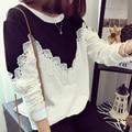 sweat garcon sweatshirt kids lace flowers top cute long sleeve clothing 2016 spring new arrivals