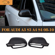 A3 A4 A5 Carbon Fiber Replaced Side Mirror Cover for Audi A3 S3 8P A4 B8 S4 RS4 2008 - 2010 A5 S5 8T 2007 - 2009