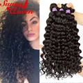 8A Malaysian Curly Hair 3Pcs Malaysian Virgin Hair Weave Bundles Malaysian Deep Wave Human Hair Extensions Rosa Hair Products