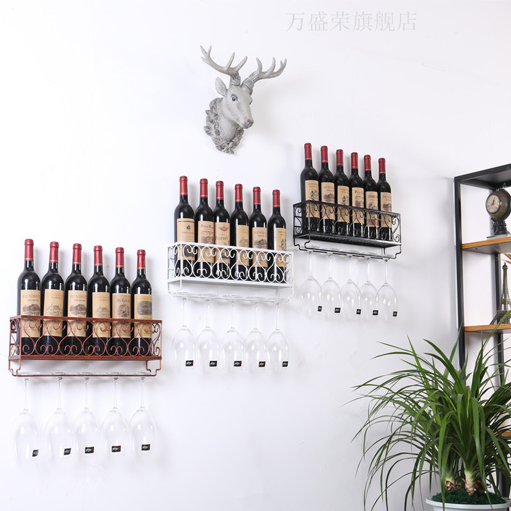 1pc Wine rack red wine cup rack wall mounted goblet shelf upside down glass cup shelf hanging Wine rack decoration wx8071550