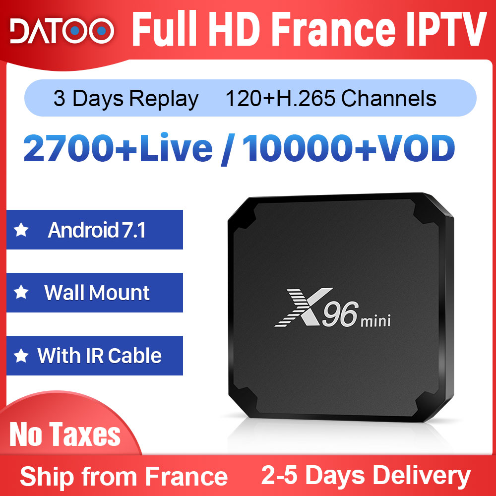 X96 MINI français IPTV France arabe italie espagne Android 7.1 1G + 8G/2G + 16G français IPTV France arabe italien turquie IPTV France boîte
